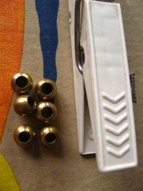 бусины круглые металлические, утяжелители, цвет под медь. 6 шт