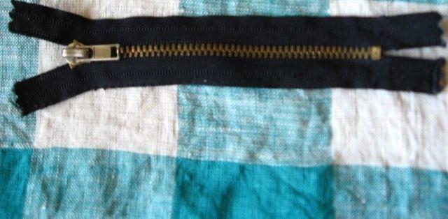 молния металлическая, на чёрной и коричневой основе, на брюки, 10 (12)