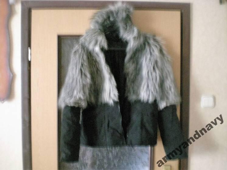 Куртка женская с внешним мехом