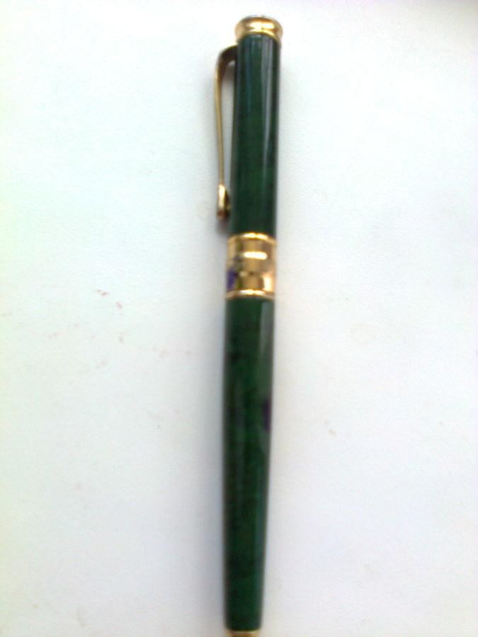 """Ручка """"Doktor"""" малахит, бронза и позолота"""