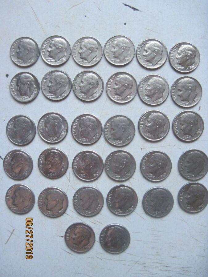 Продам монеты США по 10 центов 35 шт