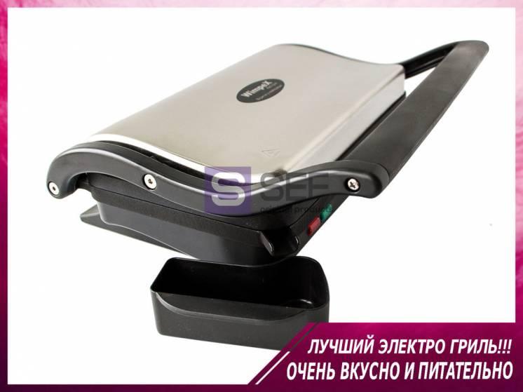 Best! Качественный прижимной электрогриль для дома/контактный/барбекю