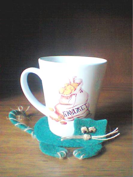Подставки-зверушки из ткани под чашки