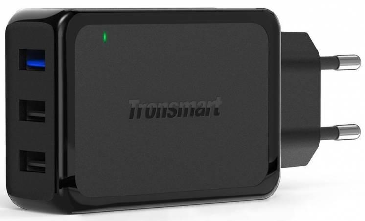 Зарядное устройство Tronsmart W3PTA на 3 USB порта, QC 3.0. Оригинал