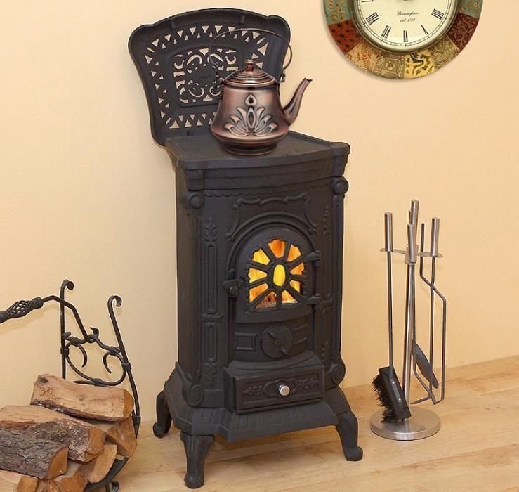 Камин печь буржуйка чугунная Bonro Black 8 кВт