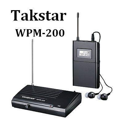 Takstar Wpm-200 In Ear радиосистема персонального мониторинга новые!