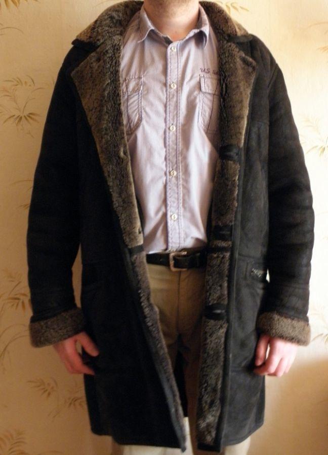 Мужская Натуральная дубленка. Кожа 100%. 54 размер. см.фото.
