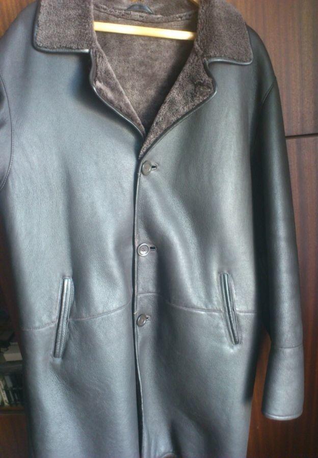 Кожаная куртка мужская. 100% натуральная. см.фото.