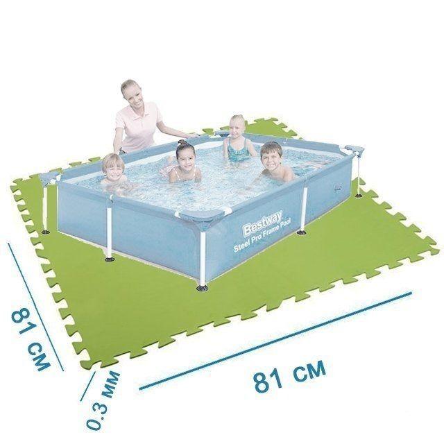 Мат-подложка Bestway 58265 для бассейнов 81 х 81 см, 8 шт