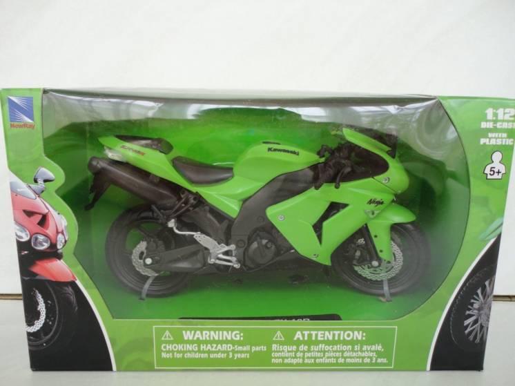 Модель мотоцикл 1:12 Kawasaki ZX-10 Ninja від New Ray новая игрушка