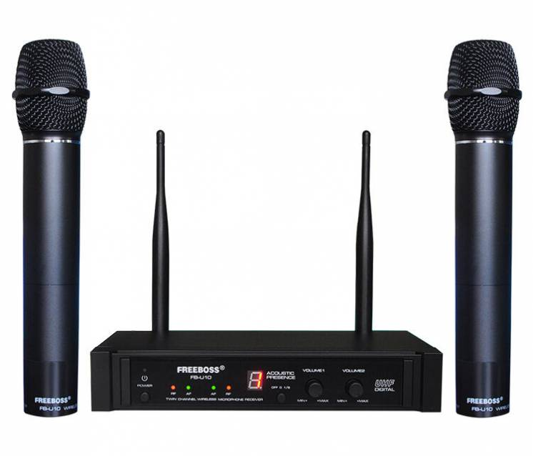 Радиомикрофон FREEBOSS FB-U10 радиосистема радио микрофон беспроводной