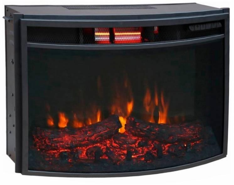 Электрическая топка (электрокамин) Bonfire EL1537В закругленное стекло