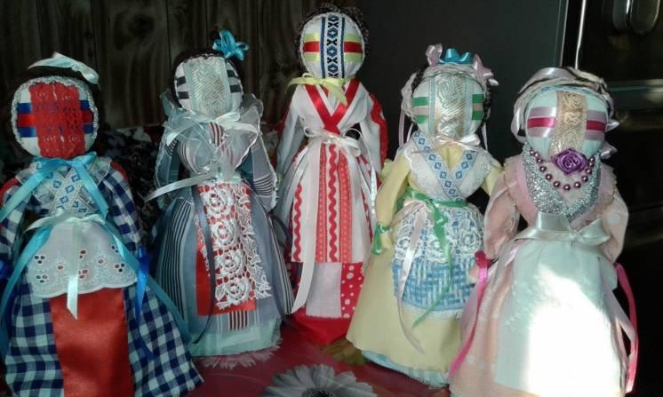 Мотанка-кукла ручной работы без использования иглы-сувенир подарок