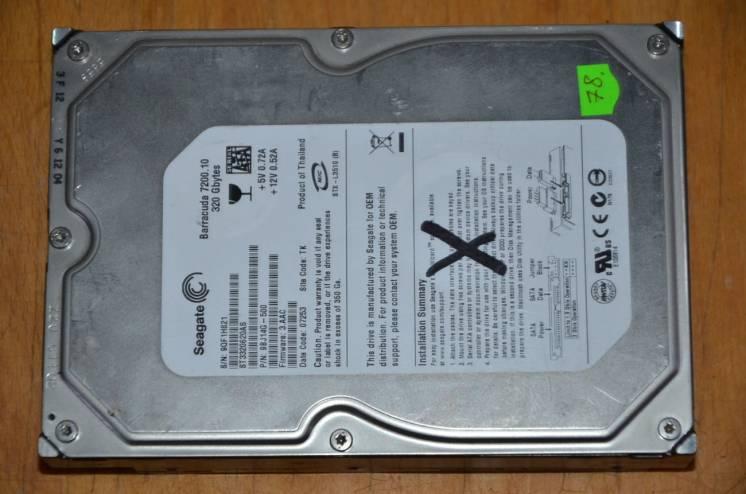Жорсткий диск SeaGate 320GB Sata! MeгаSale!(78)