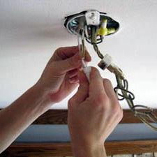Ремонт люстр, светильников. Установка розеток, выключатель