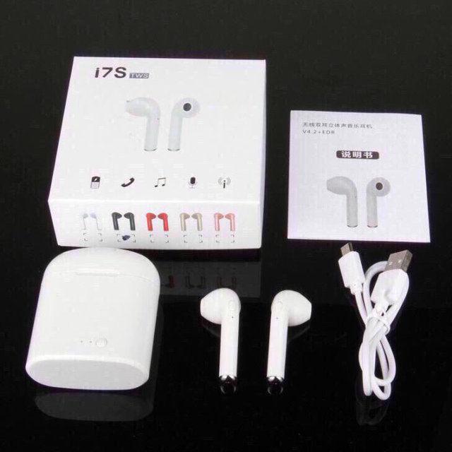 Беспроводные наушники I7s TWS Bluetooth с кейсом
