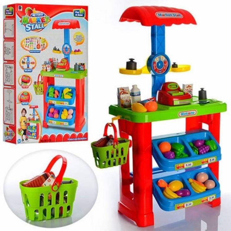 Игровой набор Магазин Супермаркет 661-79 корзинка, касса, сканер, прод