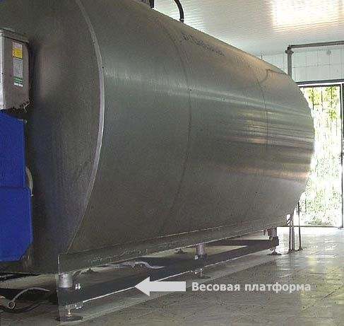 Бункерные весы: кормосмеситель, танк-охладитель молока, емкость сыпучи