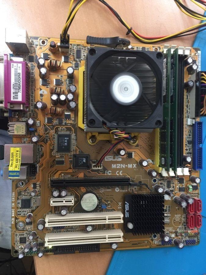 Комплект: ASUS M2N-MX + AMD Athlon 4200+ (2*2.3Ghz) + ОЗУ 2GB DDR2