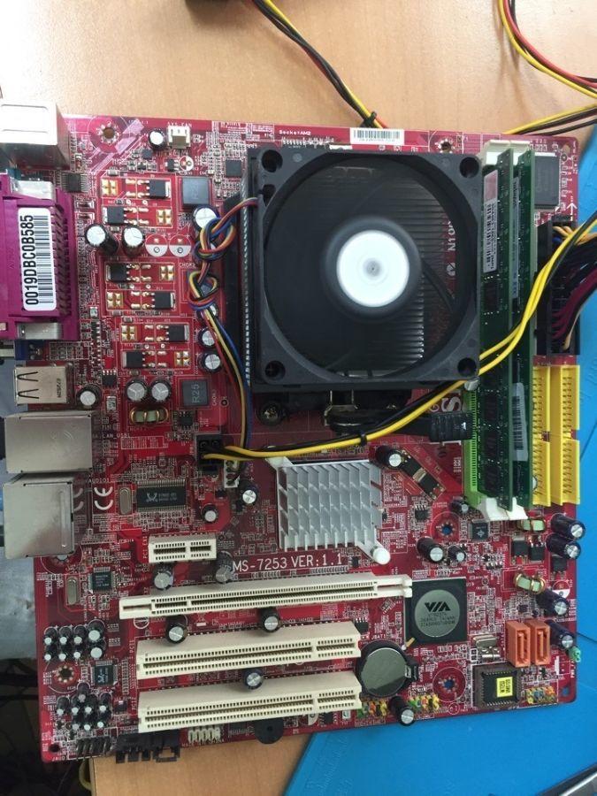Комплект: MSI K9VGM + AMD Athlon 4400+ (2*2.2Ghz) + 2GB ОЗУ DDR2