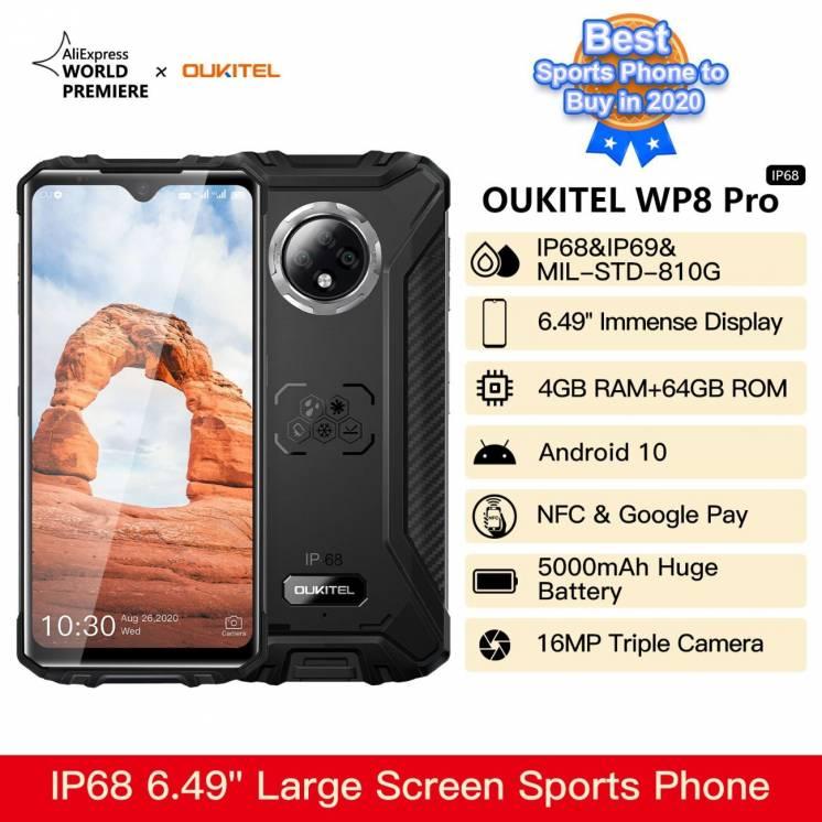 OUKITEL WP8 Pro 4\64 black\orange НОВЫЕ!!!