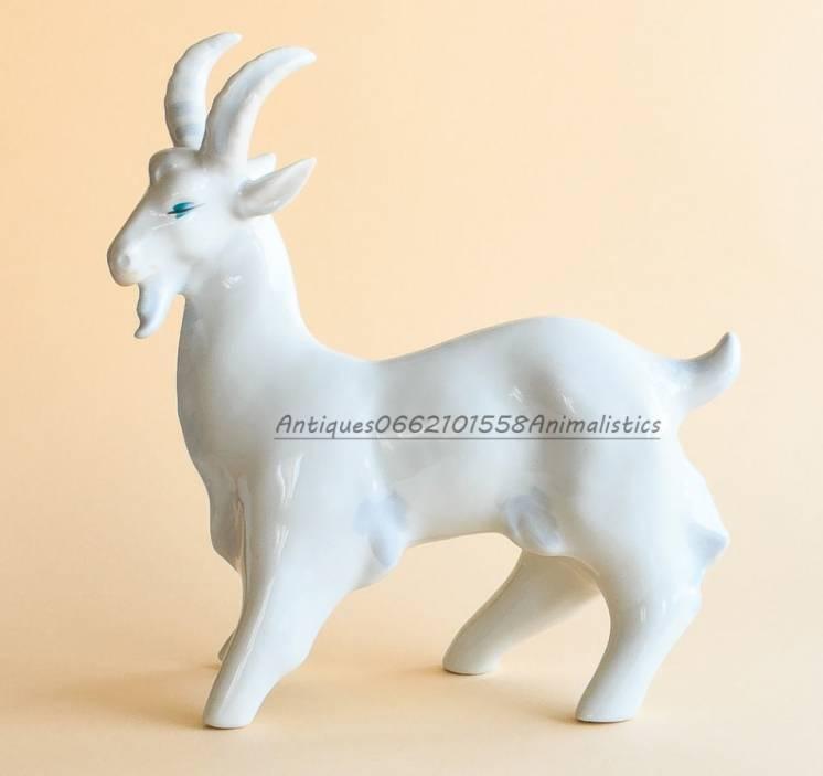 Редкость фарфоровая статуэтка фарфор горный козел ссср