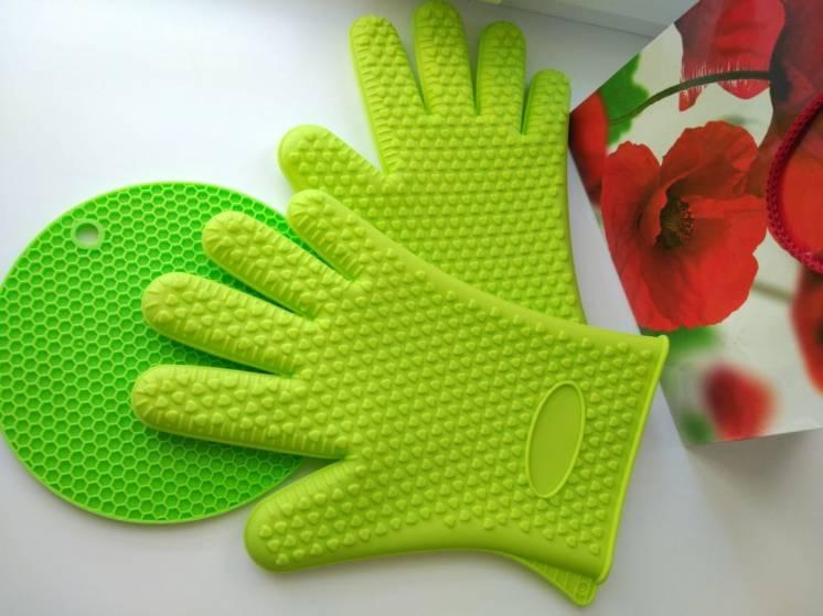 Силиконовая перчатка термоперчатка перчатка для кухни