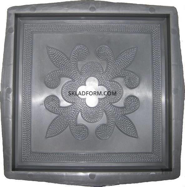 Формы для тротуарной плитки квадрат Декор 30х30 см