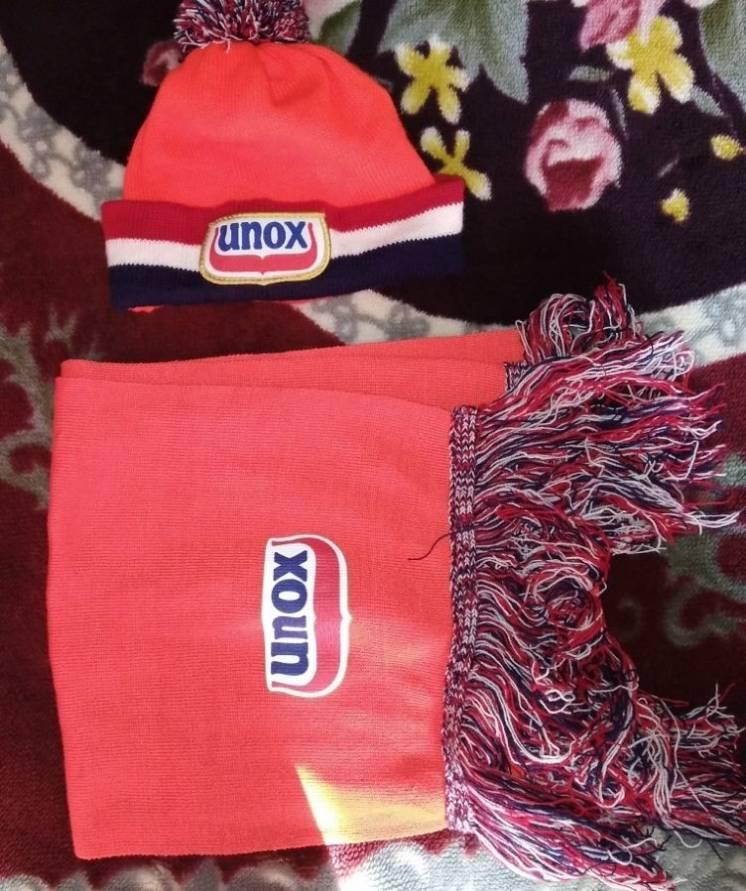 Подростковый комплект спортивный Unox, шапка+шарф