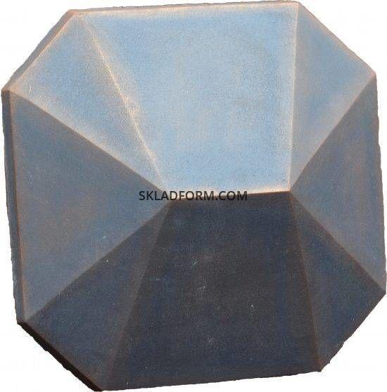 Форма крышки на столб Восьмигранная 2