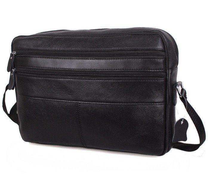 Галерея Мужская кожаная сумка A4 Dovhani Bon3923-1 Черная