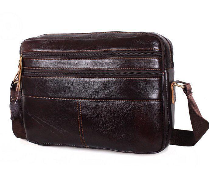 Мужская кожаная сумка A4 Dovhani Bon3923-2 Коричневая