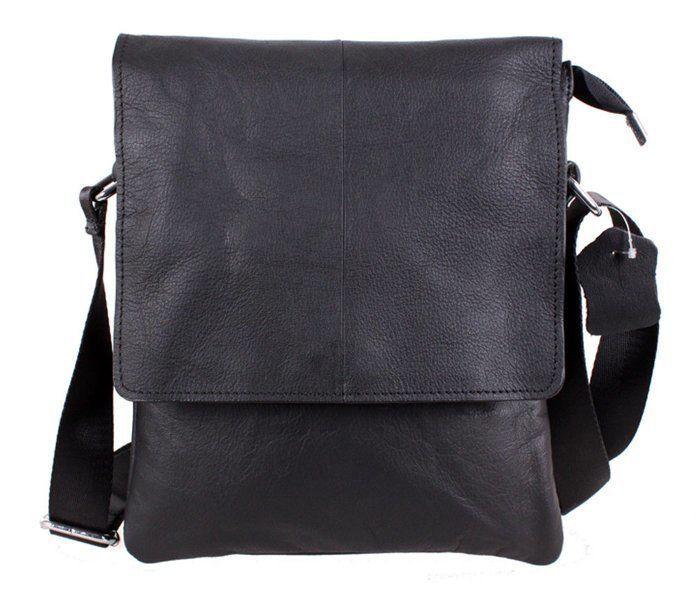 Мужская кожаная сумка Dovhani MESS8138-1 Черная