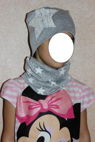 Шапка и хомут шарфик для деток от 7 до 15 лет на весну - осень