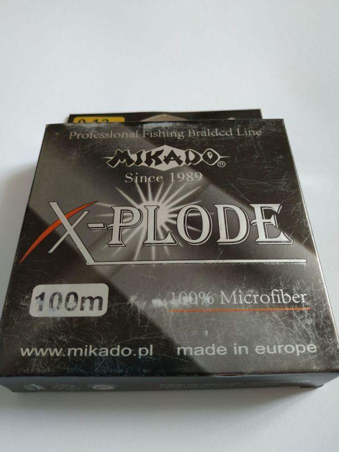 Шнур рыболовный Mikado X-plode 100м, 0.12мм