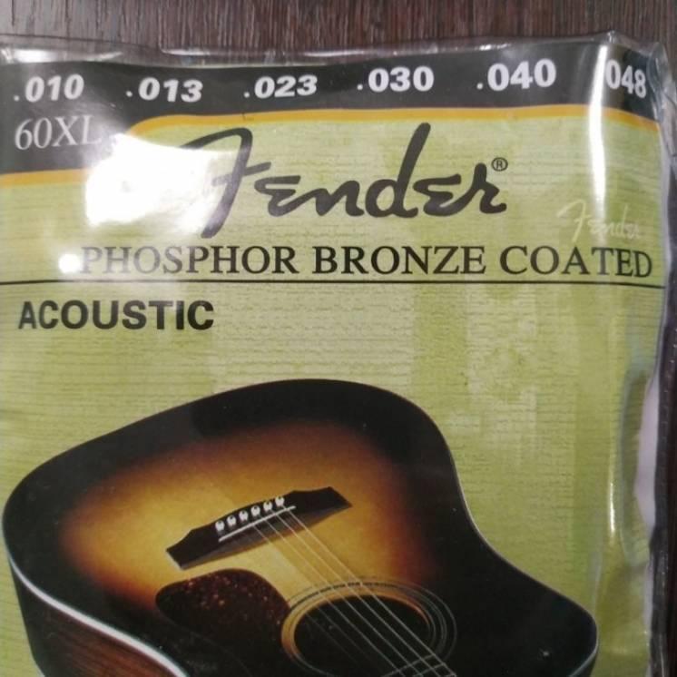 Струны металлические золото Fender аккустическая гитара