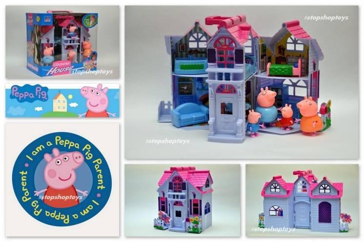 Домик свинки Пеппы. Peppa Pig раскладной, с фигурками и мебелью.