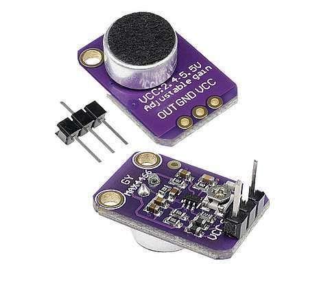 Микрофон электретный Gy-max4466 Dc 5в с регулировкой 3.3v 5v Gy Max446