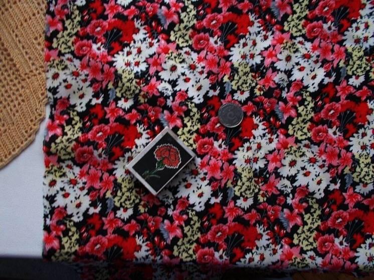 Ткань хлопок штапель натуральный  Букетики   For Hand Made, рукоделия