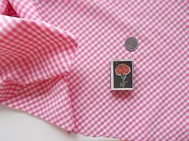Ткань хлопок в розово-белую клеточку. For Hand Made, рукоделия, подело