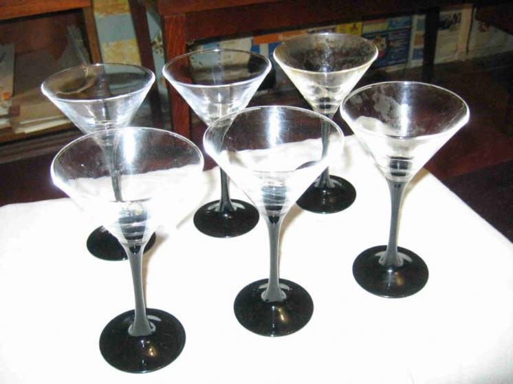 Бокалы для мартини BOHEMIA (сервиз 6 штук)