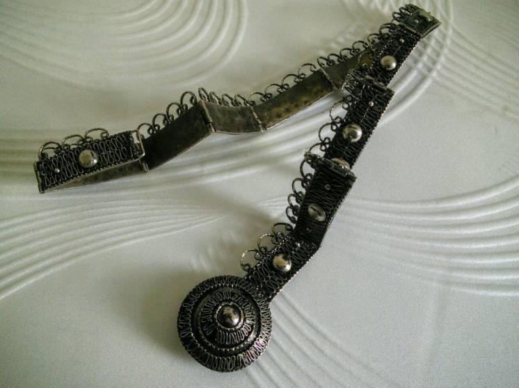 Антикварный винтажный армянский пояс