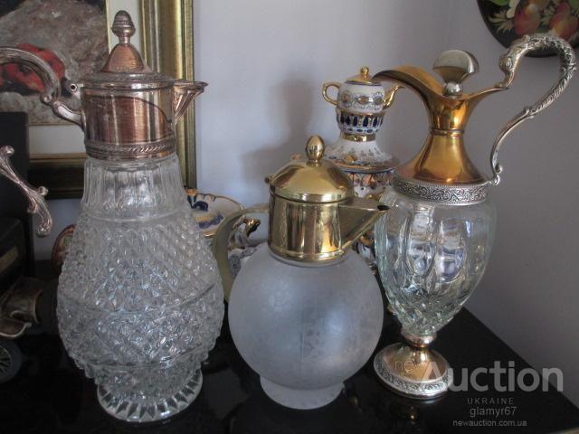 Кувшин Муранское стекло Италия 60-е годы. Venezia. H-24 см. 1 Литр.