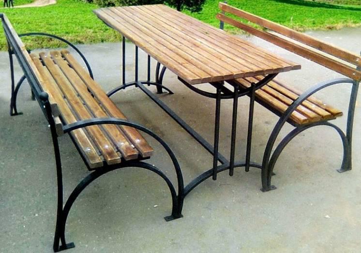 Скамейка садовая, лавочка парковая, кованная скамья  для сада, дачи, л
