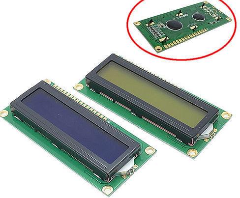 экран символьный 16x2 1602 HD44780 синий желтый модуль