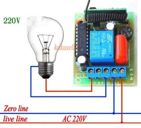 Беспроводной 1 канальный пульт дистанционного управления 220V