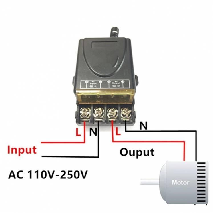 Беспроводной пульт дистанционного управления 220V 30А на 1 реле+1 пуль