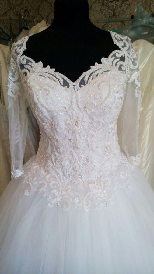 Велеколепное свадебное платье, на золушку