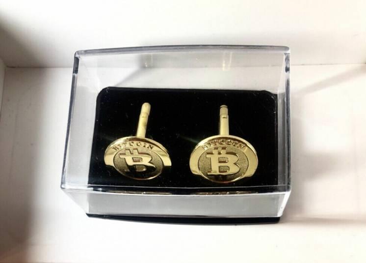 Запонки с логотипом биткоин Bitcoin
