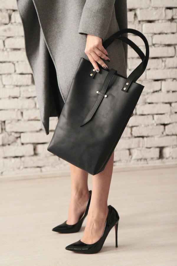 Стильная сумка из натуральной кожи (шоппер)